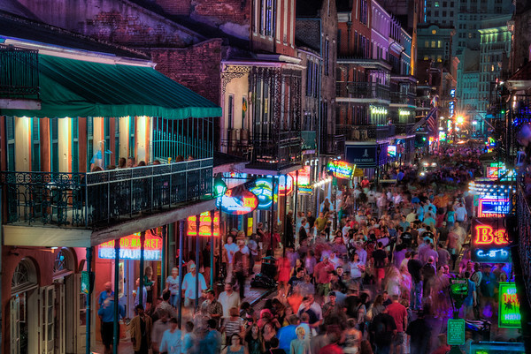 Bourbon Street at Night